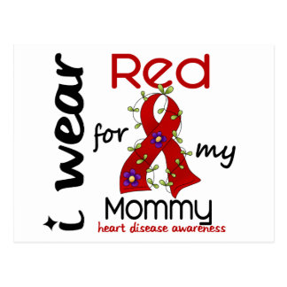 I Wear Red For My Mommy 43 Heart Disease Postcard