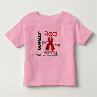 I Wear Red For My Mommy 43 Heart Disease Tee Shirt