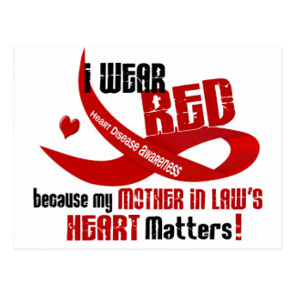 I Wear Red For My Mother-In-Law 33 Postcard