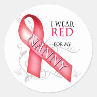 I Wear Red for my Nanny Classic Round Sticker