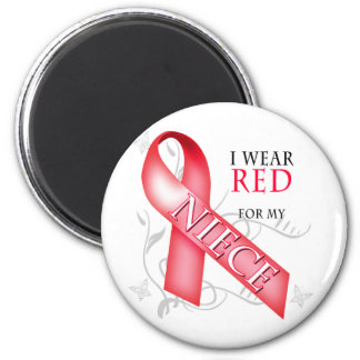 I Wear Red for my Niece Magnet