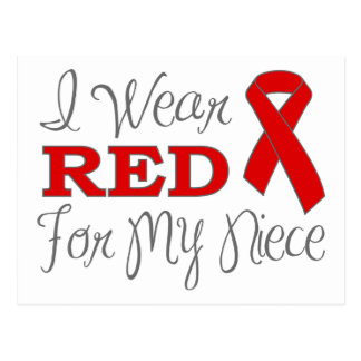 I Wear Red For My Niece (Red Ribbon) Post Card