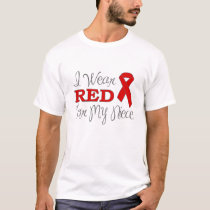 I Wear Red For My Niece (Red Ribbon) T-Shirt