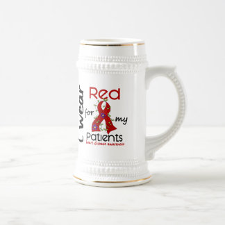 I Wear Red For My Patients 43 Heart Disease 18 Oz Beer Stein