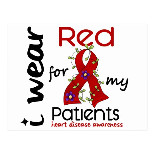 I Wear Red For My Patients 43 Heart Disease Postcard