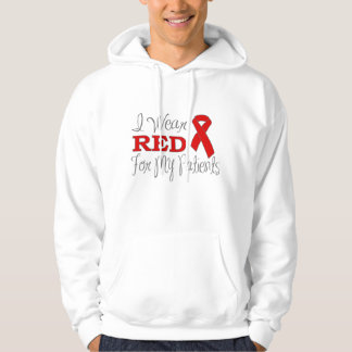 I Wear Red For My Patients (Red Ribbon) Hoodie