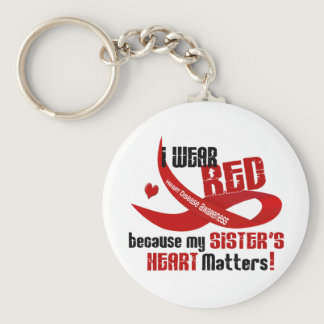 I Wear Red For My Sister 33 Keychain