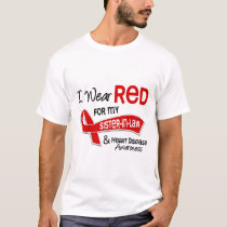 I Wear Red For My Sister-In-Law Heart Disease T-Shirt
