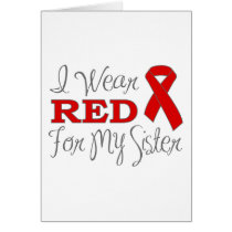 I Wear Red For My Sister (Red Ribbon)