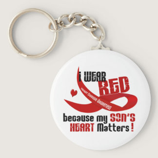 I Wear Red For My Son 33 Keychain