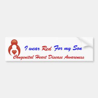 I Wear Red For My Son Bumper Sticker