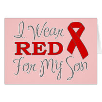 I Wear Red For My Son (Red Ribbon)