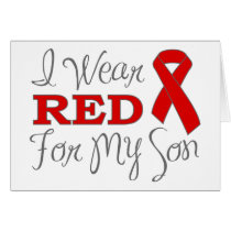 I Wear Red For My Son (Red Ribbon) Card