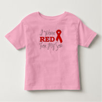 I Wear Red For My Son (Red Ribbon) Toddler T-shirt