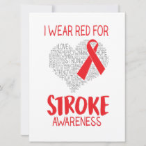I Wear Red For Stroke Awareness Announcement