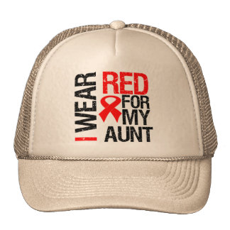 I Wear Red Ribbon For My Aunt Trucker Hat