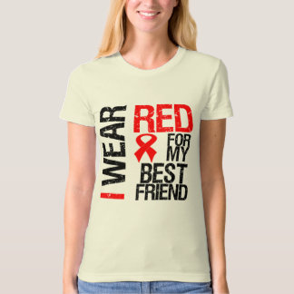 I Wear Red Ribbon For My Best Friend Shirt