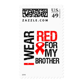 I Wear Red Ribbon For My Brother Postage Stamp