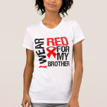 I Wear Red Ribbon For My Brother T Shirt