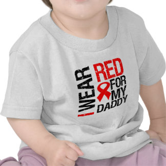 I Wear Red Ribbon For My Daddy Shirts