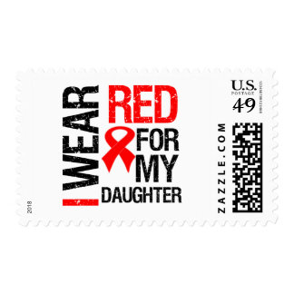 I Wear Red Ribbon For My Daughter Postage