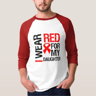 I Wear Red Ribbon For My Daughter Shirt