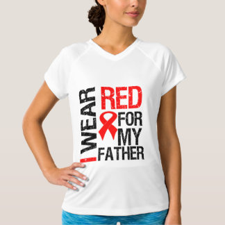 I Wear Red Ribbon For My Father T-Shirt