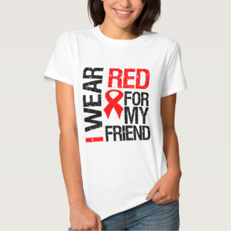 I Wear Red Ribbon For My Friend Tee Shirt