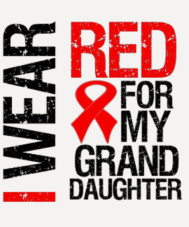 I Wear Red Ribbon For My Granddaughter Shirt