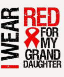 I Wear Red Ribbon For My Granddaughter Tshirt