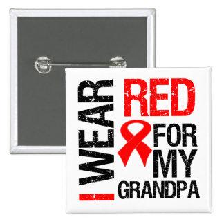 I Wear Red Ribbon For My Grandpa Pinback Button