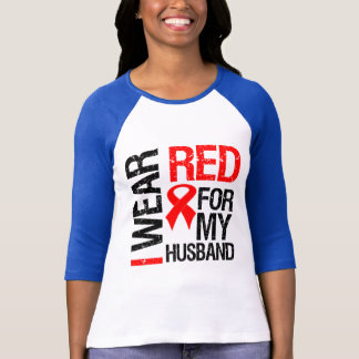 I Wear Red Ribbon For My Husband T-Shirt