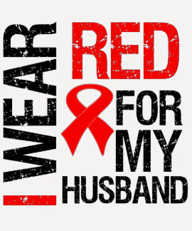 I Wear Red Ribbon For My Husband T Shirt