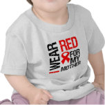 I Wear Red Ribbon For My Mother T-shirts