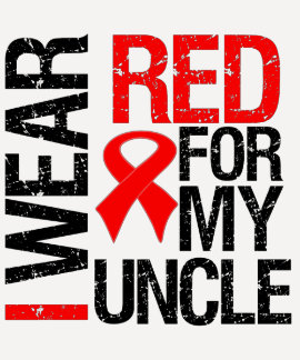 I Wear Red Ribbon For My Uncle T-shirt