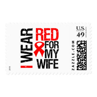 I Wear Red Ribbon For My Wife Stamps