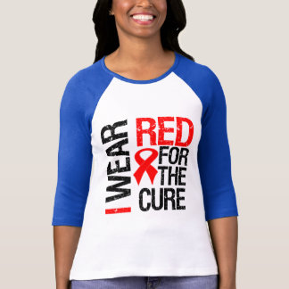 I Wear Red Ribbon For The Cure T-Shirt