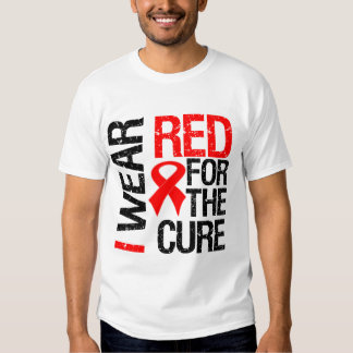 I Wear Red Ribbon For The Cure T Shirt