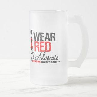 I Wear Red Ribbon To Advocate Stroke Awareness Mug
