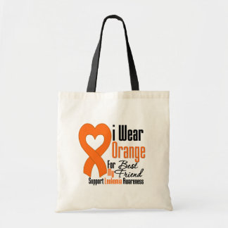 I Wear Ribbon (Best Friend) - Leukemia Tote Bag