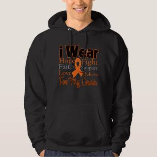 I Wear Ribbon Collage Cousin - Leukemia Hoodie
