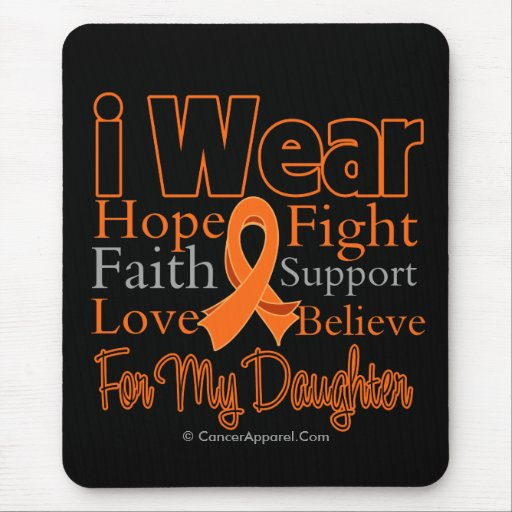 I Wear Ribbon Collage Daughter - Leukemia Mouse Pad