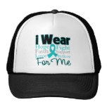 I Wear Ribbon Collage For Me - Ovarian Cancer Trucker Hat