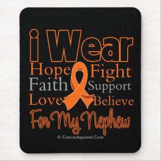 I Wear Ribbon Collage Nephew - Leukemia Mouse Pad