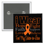I Wear Ribbon Collage Sister-in-Law - Leukemia Pin