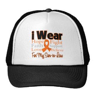 I Wear Ribbon Collage Son-in-Law - Leukemia Trucker Hat