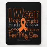 I Wear Ribbon Collage Son - Leukemia Mouse Pad