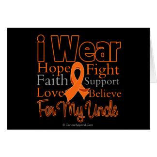 I Wear Ribbon Collage Uncle - Leukemia Greeting Card