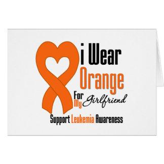I Wear Ribbon (Girlfriend) - Leukemia Greeting Card