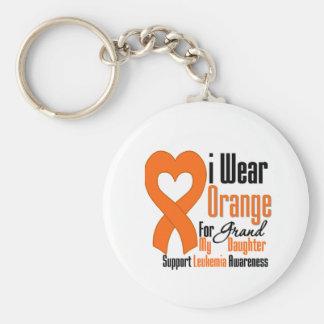 I Wear Ribbon (Granddaughter) - Leukemia Keychains